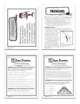 Pronouns and Antecedents Activities + Lesson and SEVEN Pronoun Worksheets