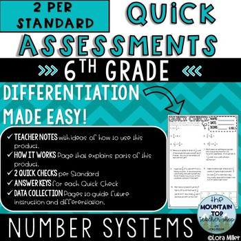 6th Grade Quick Assessments--Test Prep or Review