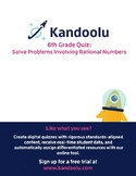 6th Grade Quiz: Solve Problems Involving Rational Numbers