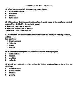 6th Grade Quiz on Motion - 28 Questions