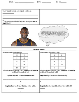 6th Grade Ratio, Rate, & Proportional Reasoning Study Guide