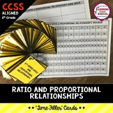 6th Grade Ratio and Proportional Relationship Time Filler Cards
