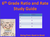 6th Grade Ratio/Rate Study Guide