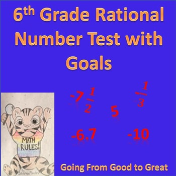 6th Grade Rational Number Test with Goals