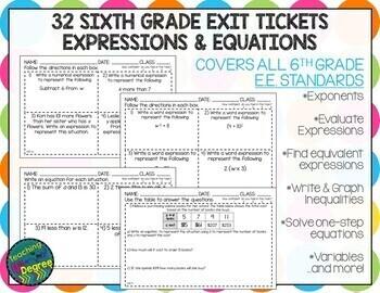 6th Grade Ratios & Proportions Quick Checks