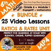 6th Grade Ratios & Rates Unit Video Lessons for Remote/Flipped/Distance Learning