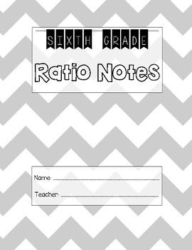 6th Grade Ratios Unit Notes