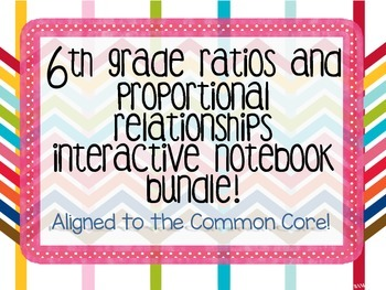 6th Grade Ratios and Proportional Relationships Interactive Notebook Bundle
