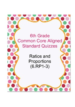 6th Grade Ratios and Proportions Common Core Aligned Stand
