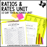 6th Grade Ratios and Rates Unit: TEKS 6.4B, 6.4C, 6.4D, 6.4H, 6.5A