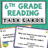 6th Grade Reading Comprehension Common Core Task Cards