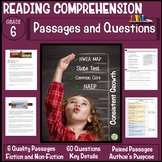 6th Grade Reading Comprehension Passages and Questions
