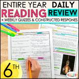 6th Grade Reading Homework | 6th Grade Reading Comprehension Passages BUNDLE