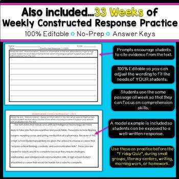 6th Grade Reading Homework | 6th Grade Reading Comprehension Passages