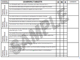 Student Data Sheets!!! Reading I CAN Statements; CCSS Target Data
