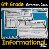 6th Grade Reading Informational Text Graphic Organizers fo