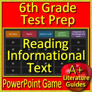6th Grade Test Prep: Reading Informational Text - PowerPoint Game