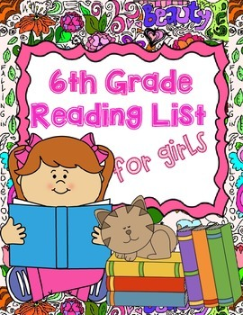 6th Grade Reading List For Girls By Aloha Education Tpt