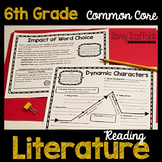 6th Grade Reading Literature Graphic Organizers for Common Core
