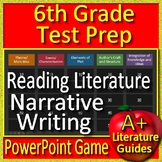6th Grade Test Prep: Reading Literature and Narratives - PowerPoint Game