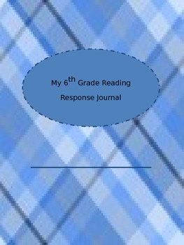 6th Grade Reading Response Journal