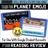 6th Grade Reading Review Game   Digital Escape Room   Goog