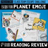 6th Grade Reading Review Game | ELA Test Prep Game Escape Room