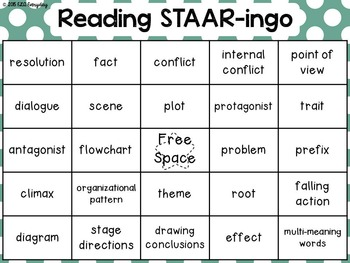 6th Grade Reading STAAR -ingo Pack