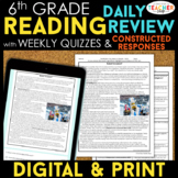 6th Grade Reading Spiral Review, Quizzes & Constructed Res