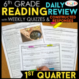 6th Grade Reading Spiral Review | Reading Comprehension Pa