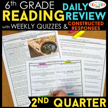6th Grade Reading Spiral Review | Reading Comprehension Passages | 2nd Quarter