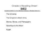 6th Grade Reading Street Activity Pack - Unit 2