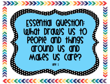 6th Grade Reading Street Unit 1 Essential Questions, Stories, and Genres