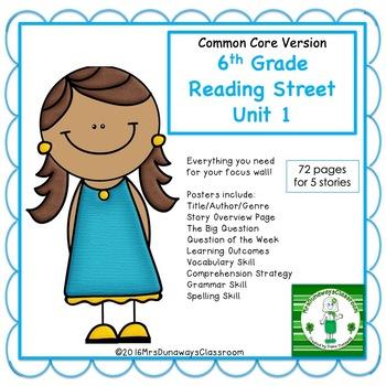 6th Grade Reading Street Unit 1 (common core edition)