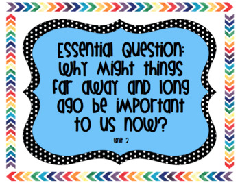 6th Grade Reading Street Unit 2 Essential Questions, Stories, and Genres