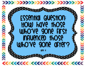 6th Grade Reading Street Unit 4 Essential Questions, Stories, and Genres