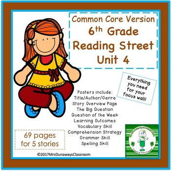 6th Grade Reading Street Unit 4 (common core edition)