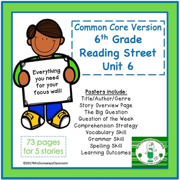6th Grade Reading Street Unit 6 (common core edition)