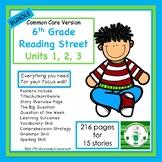 6th Grade Reading Street Units 1, 2, 3  Bundled (common core edition)