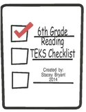 6th Grade Reading TEKS Checklist