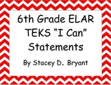 6th Grade Reading TEKS I CAN posters (Texas)