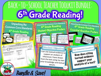 6th Grade Reading Teacher Toolkit {Reading Standards Breakdown & Resources}