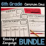 6th Grade Reading and Language Graphic Organizers Common Core Bundle