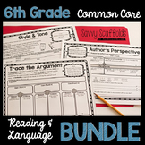 6th Grade Reading and Language Graphic Organizers Common C