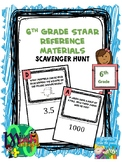 6th Grade Reference Materials Scavenger Hunt | Formula Chart | UPDATED
