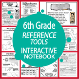 Reference Skills Interactive Notebook + FOUR Dictionary and Thesaurus Worksheets