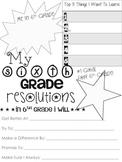 6th Grade Resolution Sheet