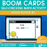 6th Grade Math Review #1 Boom Cards™ End of Year | Distanc