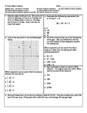6th Grade Review 4 -- 6.RP.2, 6.RP.3c, 6.EE.1, 6.EE.2a, 6.EE.7, 6.NS.3, 6.NS.8