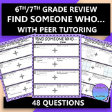 6th Grade Review Find Someone Who ...with Peer Tutoring Activity